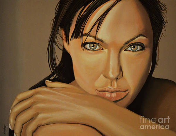 Wall Art - Painting -  Angelina Jolie 2 by Paul Meijering