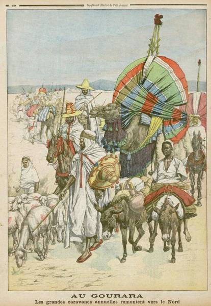 Nomad Drawing -  Annual Northwind Migration Of  Nomads by Mary Evans Picture Library