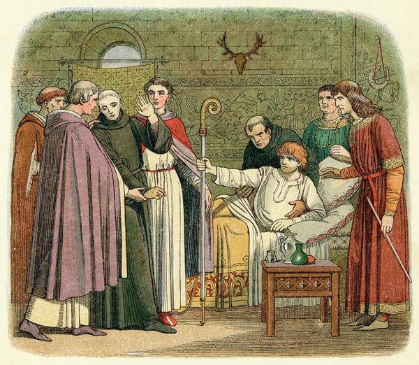 Wall Art - Drawing -  Anselm Is Appointed Archbishop by Mary Evans Picture Library