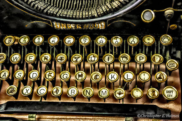 Photograph -  Antique Keyboard by Christopher Holmes