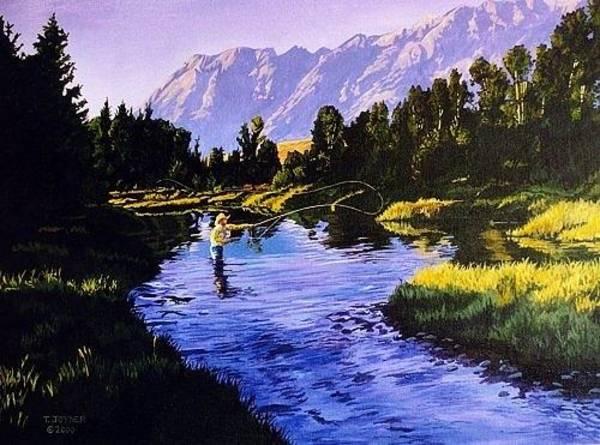 Painting -  Apretty Good Day Anywhere by Tim  Joyner