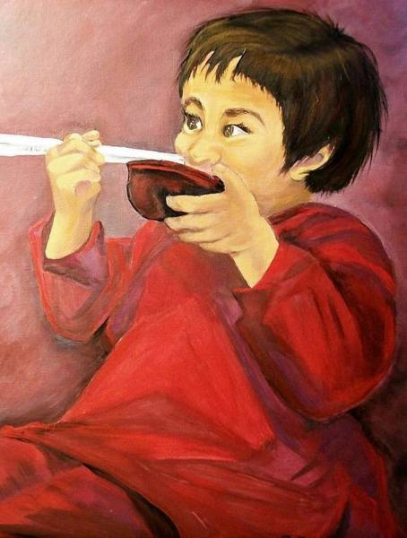 Painting -  Asian  Doll by Sharon Duguay