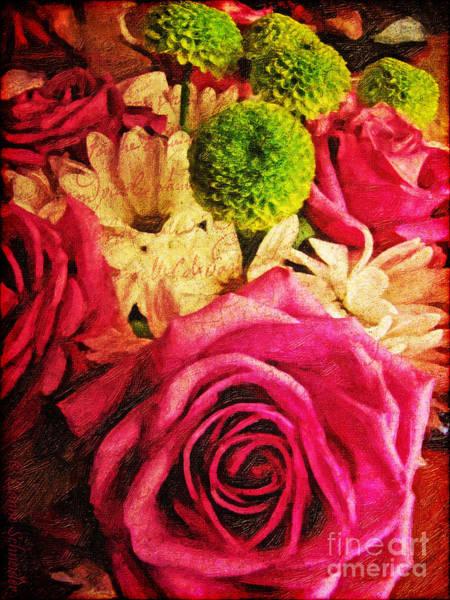 Rose Bud Digital Art -  Avec Toute Mon Ame   by Lianne Schneider