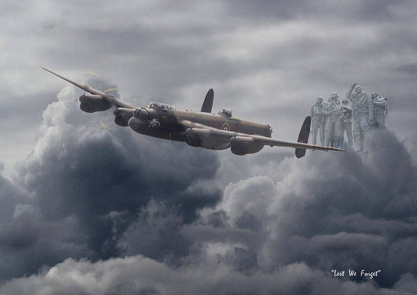 Avro Wall Art - Digital Art -    Avro Lancaster - Aircrew Remembrance by Pat Speirs