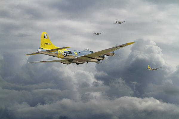 Flying Fortress Photograph -  B17 - Rocky Road Home by Pat Speirs
