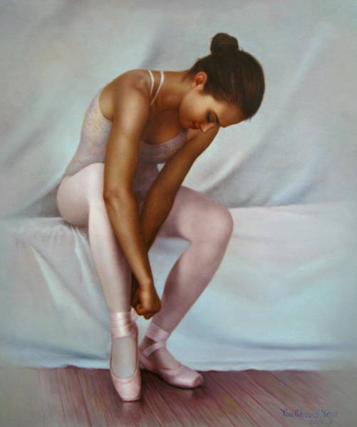Ballerinas Painting -  Ballerina 4 by Yoo Choong Yeul