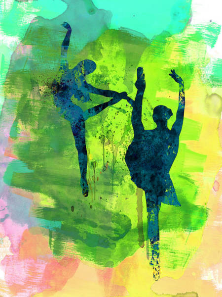 Dancing Painting -  Ballet Watercolor 1 by Naxart Studio