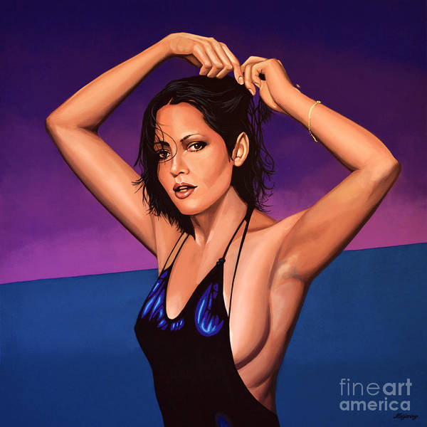 Television Painting -  Barbara Carrera Painting by Paul Meijering