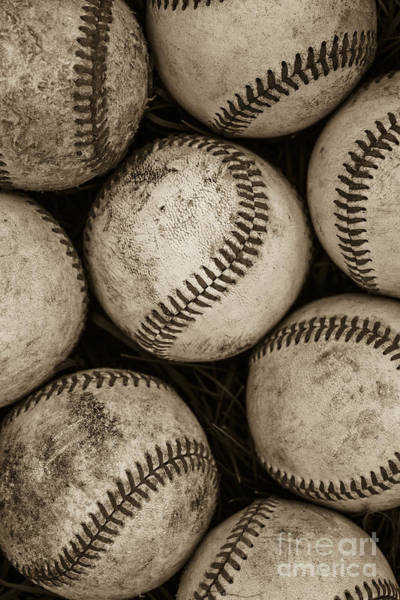 Father Photograph -  Baseballs by Diane Diederich