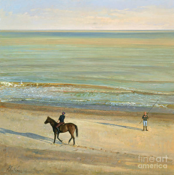 Calm Painting -  Beach Dialogue Dunwich by Timothy  Easton