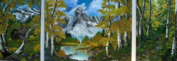 Painting -  Beauty  Of  Aspens by Sharon Duguay