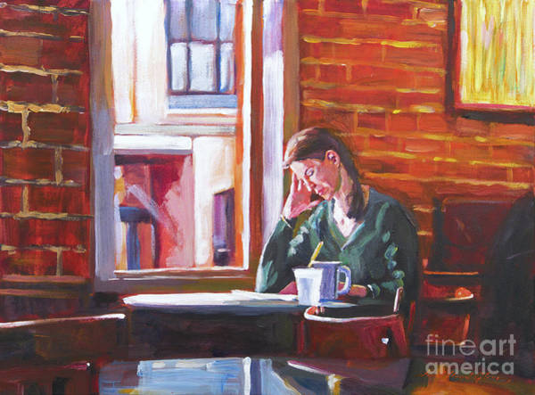 Bistros Painting -  Bistro Student by David Lloyd Glover