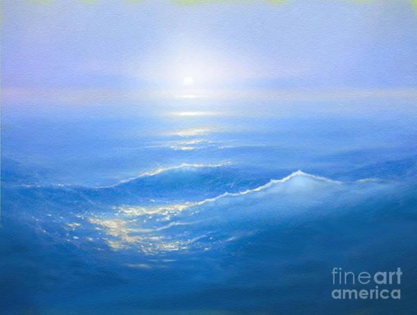 Wall Art - Painting -  Blue Blue Sea by Robert Foster