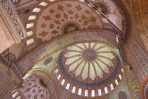 Sultan Ahmet Camii Wall Art - Photograph -  Blue Mosque  by Nick Eagles