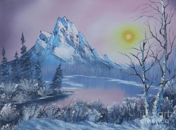 Blue Winter's Sunglow  Art Print