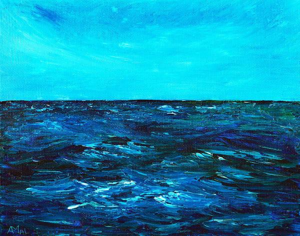 Painting -  Body Of Water by Anastasiya Malakhova