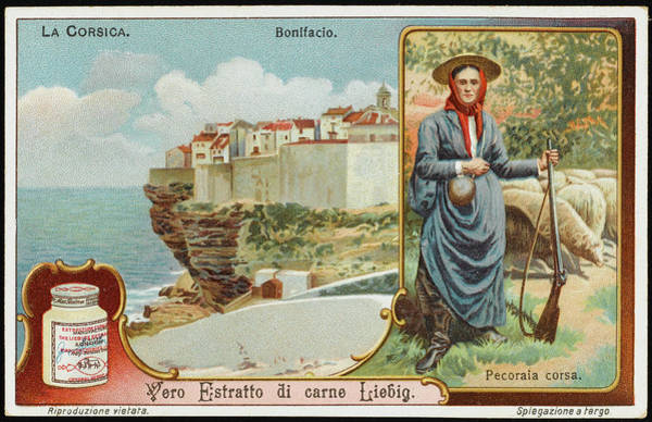 Liebig Wall Art - Drawing -  Bonifacio         Date Early 20th by Mary Evans Picture Library