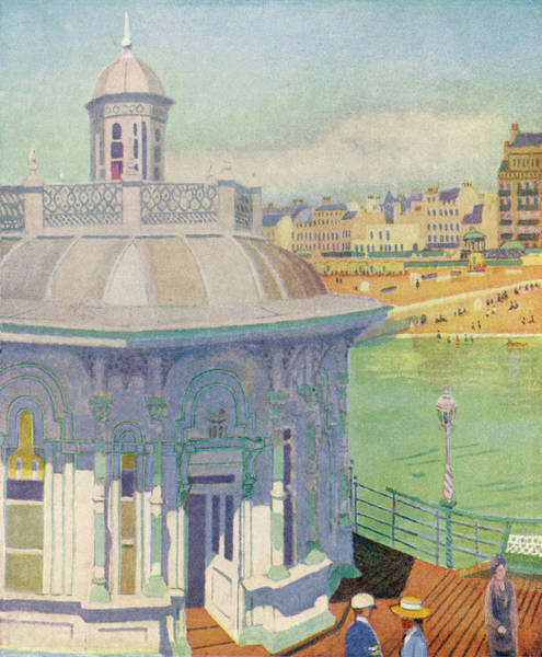 Brighton Pier Drawing -  Brighton, Sussex  The West Pier by Mary Evans Picture Library