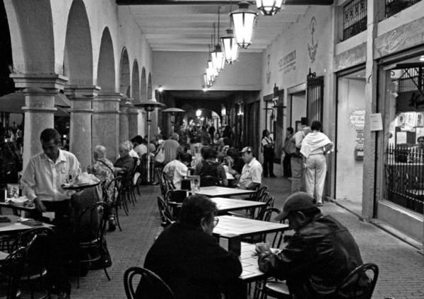 Photograph -  Cafe Next To Oaxaca Zocalo by Lee Santa