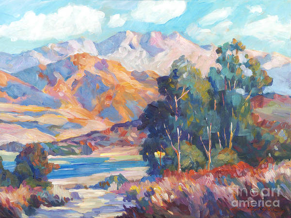Mountain Lake Painting -  California Lake by David Lloyd Glover