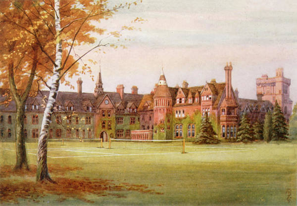 Wall Art - Drawing -  Cambridge Girton College  Emily Davies by Mary Evans Picture Library