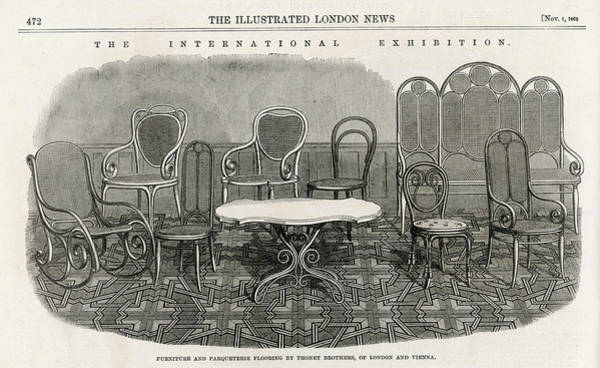 Chairs And Other Bentwood  Furniture Art Print