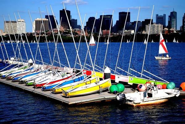 Wall Art - Photograph -  Charles River Sailboats Boston by Ronald Bartels