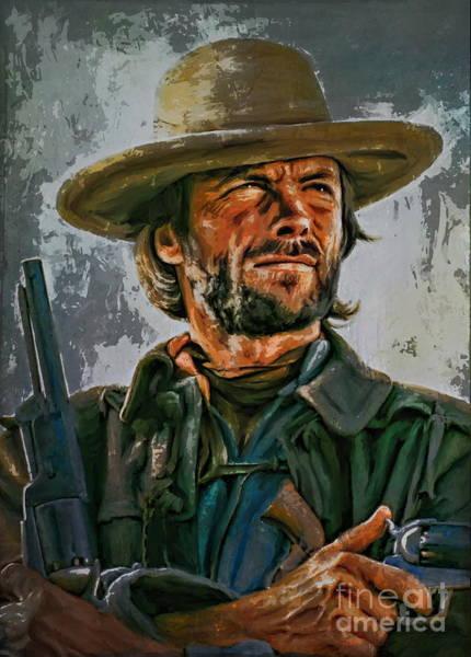 Director Painting -  Clint Eastwood by Andrzej Szczerski