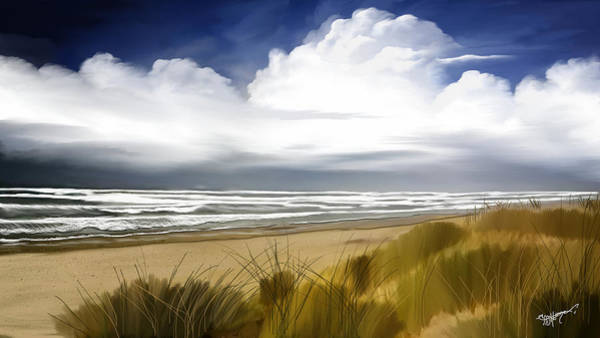 Wall Art - Digital Art -  Coastal Breeze by Anthony Fishburne