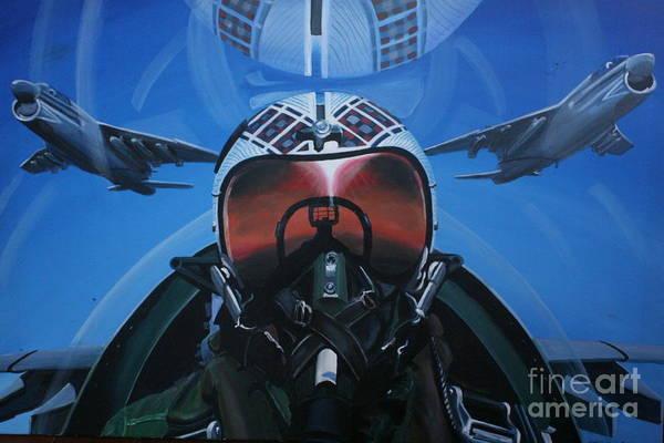 Corsair Painting -  Colonel Dave Dollarhide by Richard John Holden RA