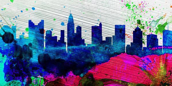 Wall Art - Painting -  Columbus City Skyline by Naxart Studio