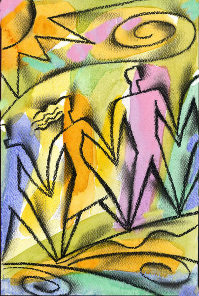 Enthusiasm Wall Art - Painting -  Connection by Leon Zernitsky