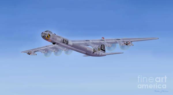 Wall Art - Digital Art -  Convair B-36  by Walter Colvin