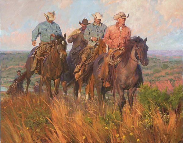 Digital Art -  Cowboys Commute By Bruce Greene by Bruce Greene