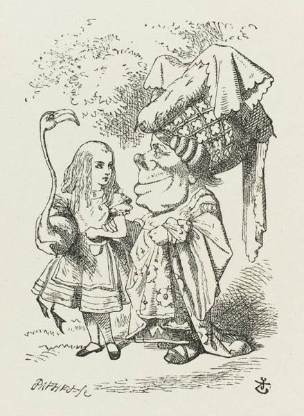 Wall Art - Drawing -  Croquet  Alice And The Duchess by Mary Evans Picture Library
