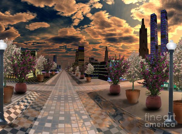 Wall Art - Digital Art -  Floral Avenue Dallas Texas  by Heinz G Mielke