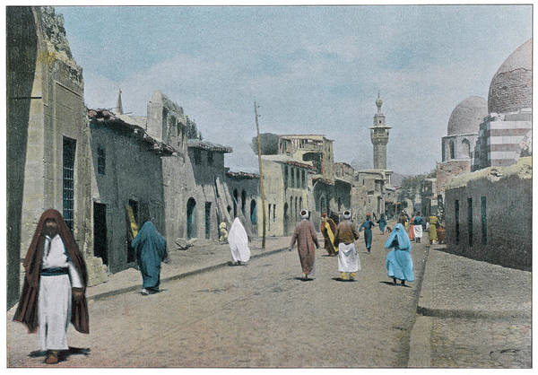 Wall Art - Photograph -  Damascus  Street Scene In Meidan by Mary Evans Picture Library