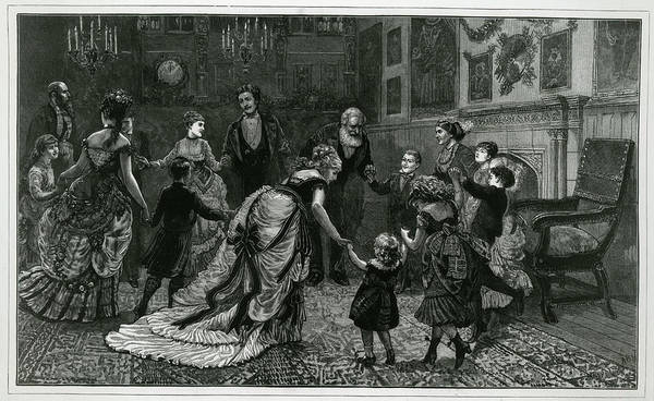 Wall Art - Drawing -  Dancing In The New Year - The Children by Mary Evans Picture Library