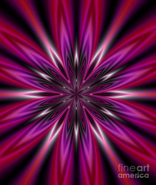 Wall Art - Digital Art -  Dark Purple Abstract Star Duvet Cover  by Heinz G Mielke