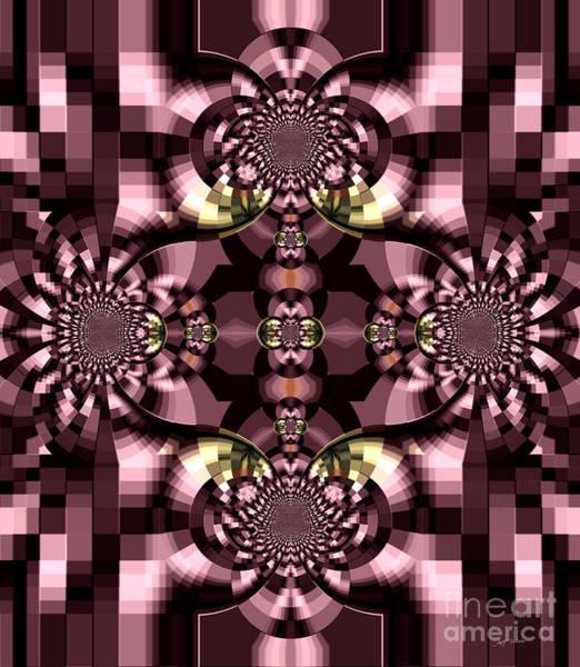 Wall Art - Digital Art -  Dark Purple Flowers Abstract Duvet Cover by Heinz G Mielke
