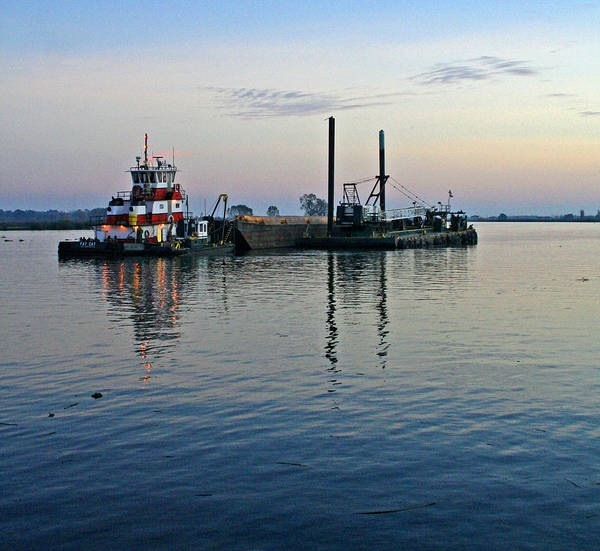 Photograph -  Delta Tug At Sunset 2006 by Joseph Coulombe