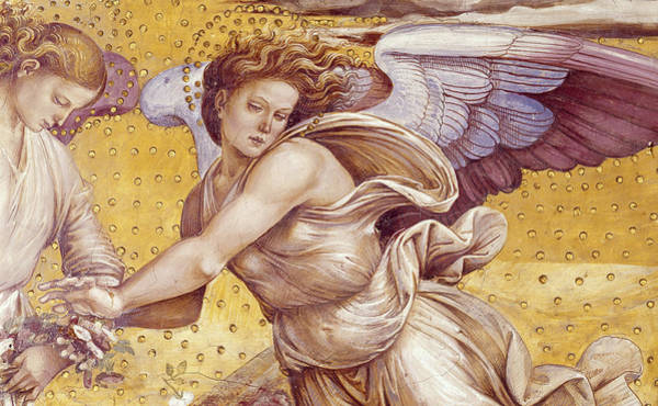 Wall Art - Painting -  Detail Of The Elect In Paradise by Luca Signorelli