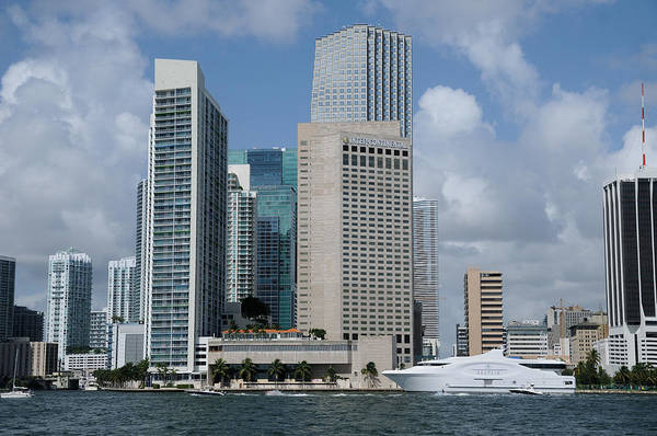Photograph -  Downtown Miami Waterfront And Seafair by Bradford Martin
