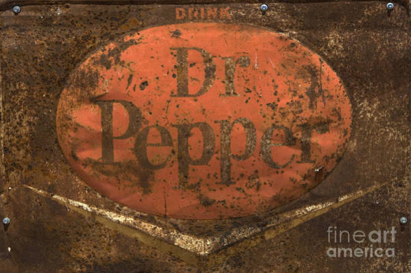 Vintage Photograph -  Dr Pepper Vintage Sign by Bob Christopher