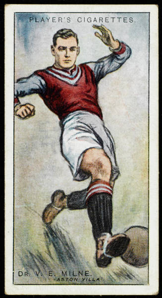 Villa Drawing -  Dr V E Milne, Player For Aston Villa by Mary Evans Picture Library