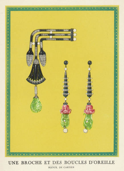 Wall Art - Drawing -  Egyptian-style Jewellery  By Cartier - by Mary Evans Picture Library