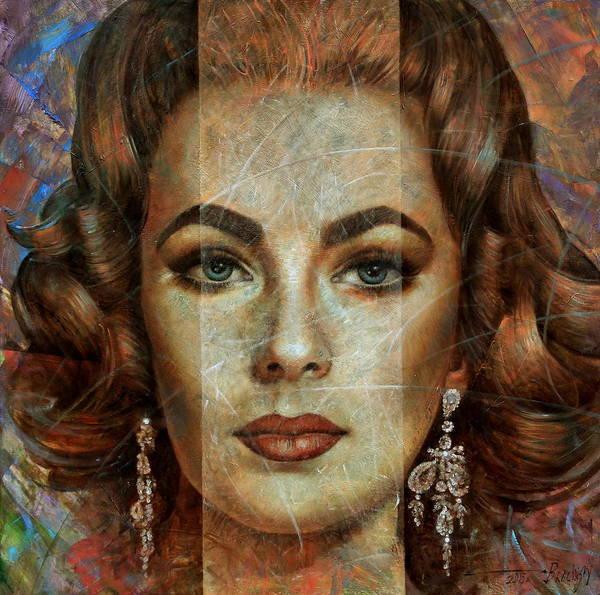 Elizabeth Taylor Painting -  Elizabeth Taylor by Arthur Braginsky