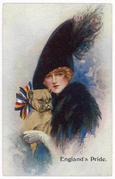 Wall Art - Photograph -  'england's Pride'  Woman by Mary Evans Picture Library