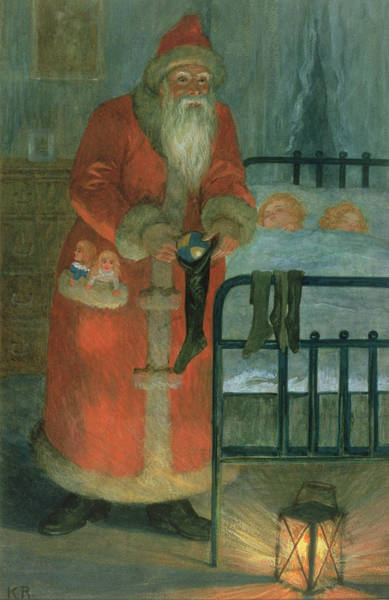 St Nicholas Painting -  Father Christmas  by Karl Roger