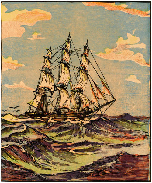 Wall Art - Drawing -  First Extreme Clipper Ship by Mary Evans Picture Library